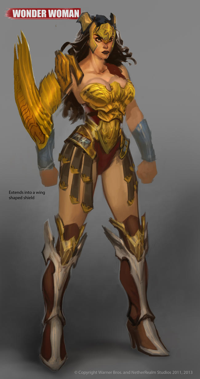 Armored Wonder Woman  by Raggedy-Annedroid