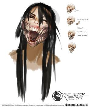 MKX Mileena mouth anatomy