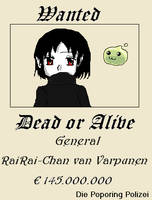Wanted - RaiRai-Chan by IsiFalcon