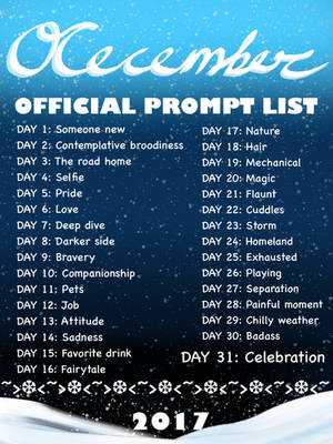 OCecember official prompt list
