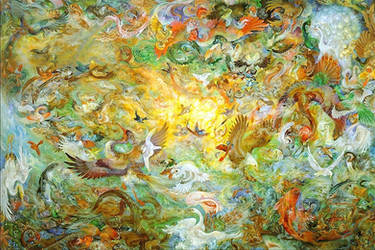 Fifth Day Of Creation by Farshchian