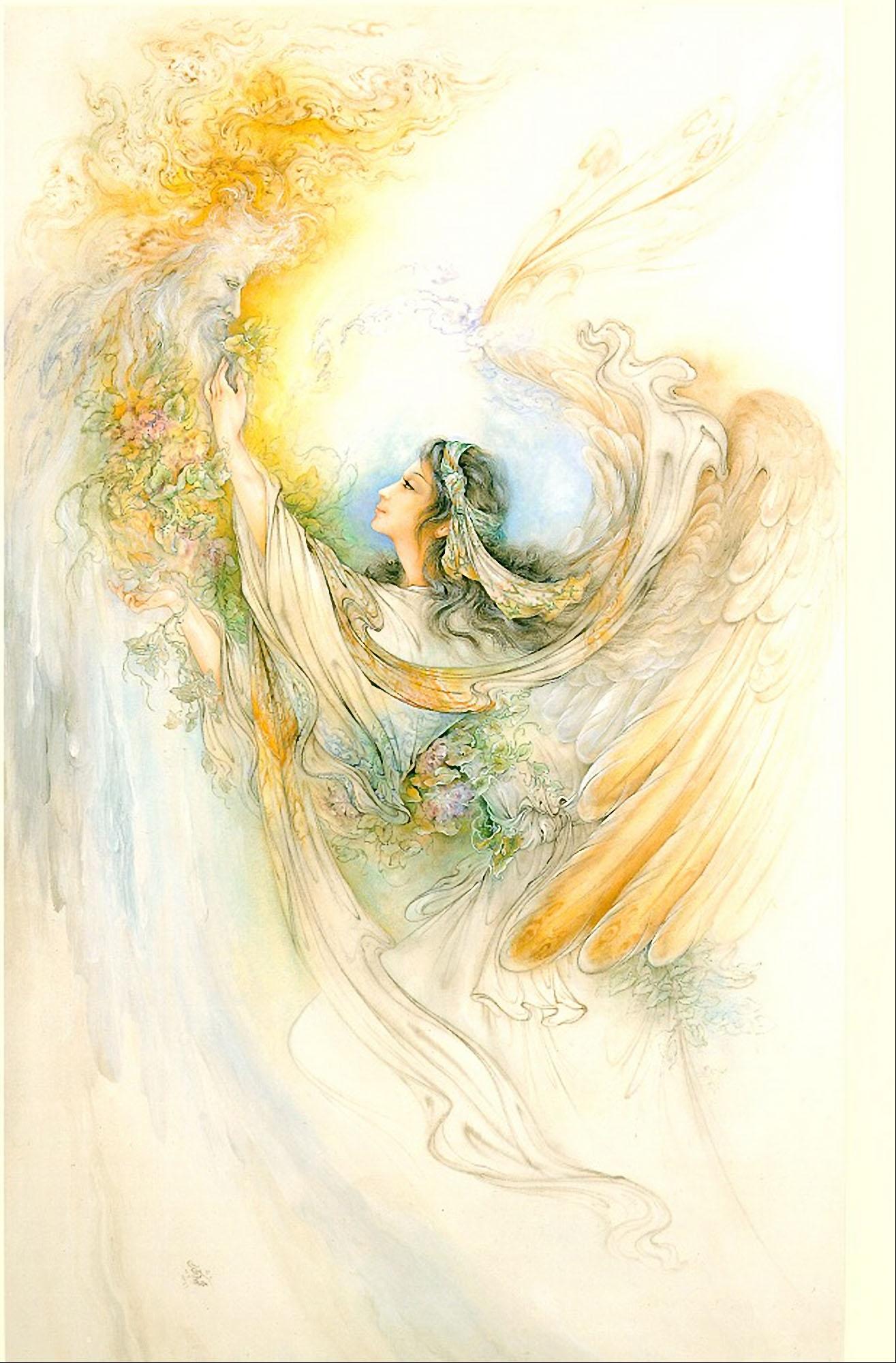 مینیاتور فرشته دعا - فرشچیان --- نقاشی زیبای فرشته دعا -  نقاشی مینیاتور - اثری بزرگ از استاد محمود فرشچیان استاد بزرگ مینیاتور ایران