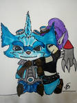 Commission - Tiera and Rumble by ShinaTris