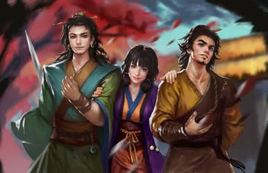 three Knight of xiaoyao by yangzheyy