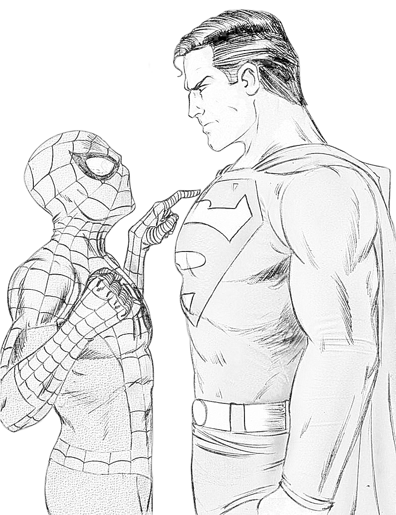 Line Art Man : Spider man vs super lineart by riu sakurazaki on