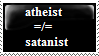 Atheist Doesn't Equal Satanist by n0-username