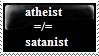 Atheist Doesn't Equal Satanist by n0-username