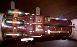 Steampunk Blaster Bracer -top-