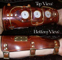 Steampunk Bracer with Gauges by Steampunked-Out