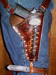 Steampunk Gun Holseter Belt by Steampunked-Out
