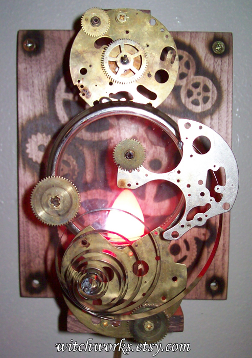 Steampunk Wall Sconce 2 by Steampunked-Out