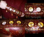 Steampunk Bracer with Gauges 2