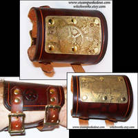 Wristcuff - Etched Brass Plate by Steampunked-Out