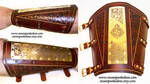 Etched Brass and Leather Bracer