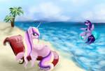 Princess Cadence and Twilight