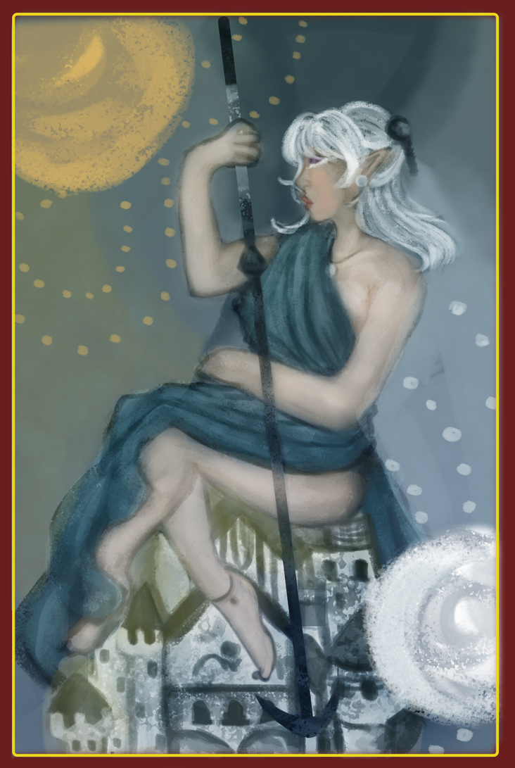 Lily Tarot Card by SakiaLumei