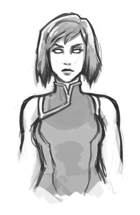 Avatar Korra Sketch by DU57Y