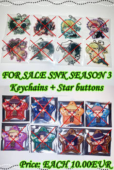 [SOLD OUT] Official SNK Season 3 keychains+Buttons