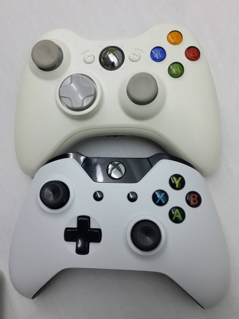Xbox 360 vs Xbox One - Controller by Rebow19-64 on DeviantArt