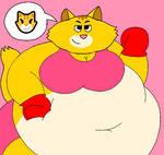 Big Blushy Bikini Emoji Cat - Microsoft Edition by Rebow19