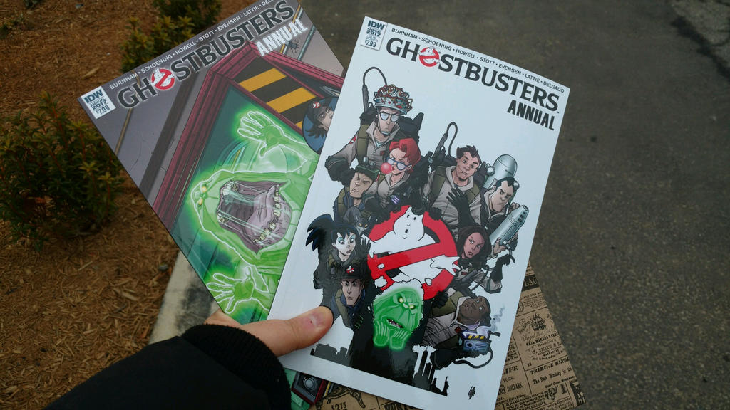 Two Ghostbusters Annual 2017s by OtakuDude83
