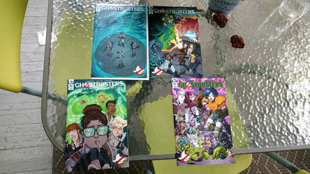 Four Ghostbusters Comics by OtakuDude83