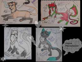 Sketches de Nuevos Personajes en__Guardianes__ XD by CHThundery