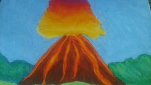 Volcano explosion