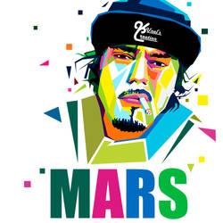 WPAP art of MARS by Kunalnath