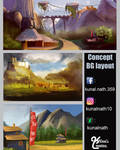 Concept background layout