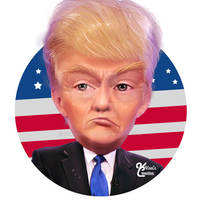 Caricature of Donald Trump