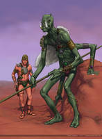 Green, Red men of Mars -- test by Laemeur