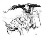 Skeletor cows Beastman