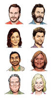 Parks and Rec heads