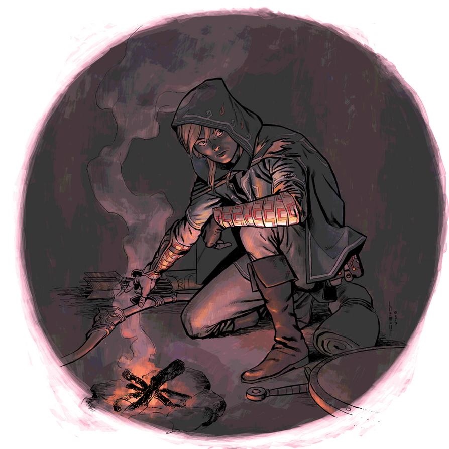 Link Fireside by Laemeur
