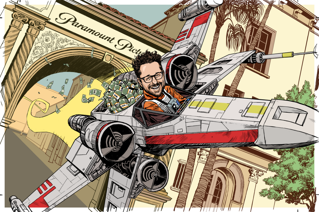 JJ in an X-Wing by Laemeur