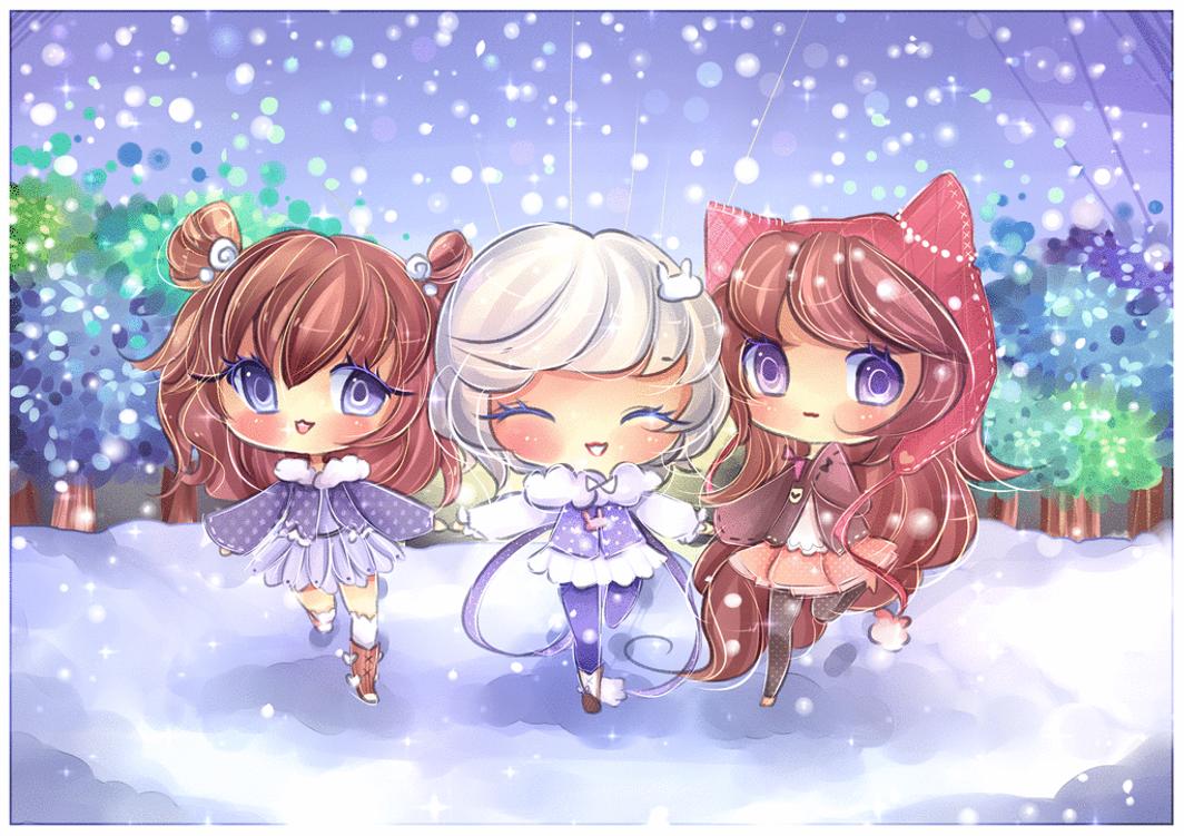 Snow Friends by mochatchi