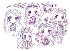 Dork Diaries Mackenzie Sketches