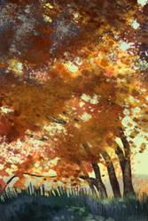 fall tree study