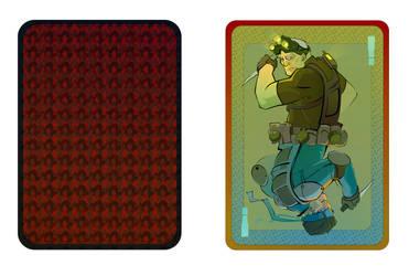 Snake vs. Sam card design