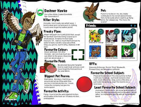 Dashner Hawke Monster High OC *EDITED*
