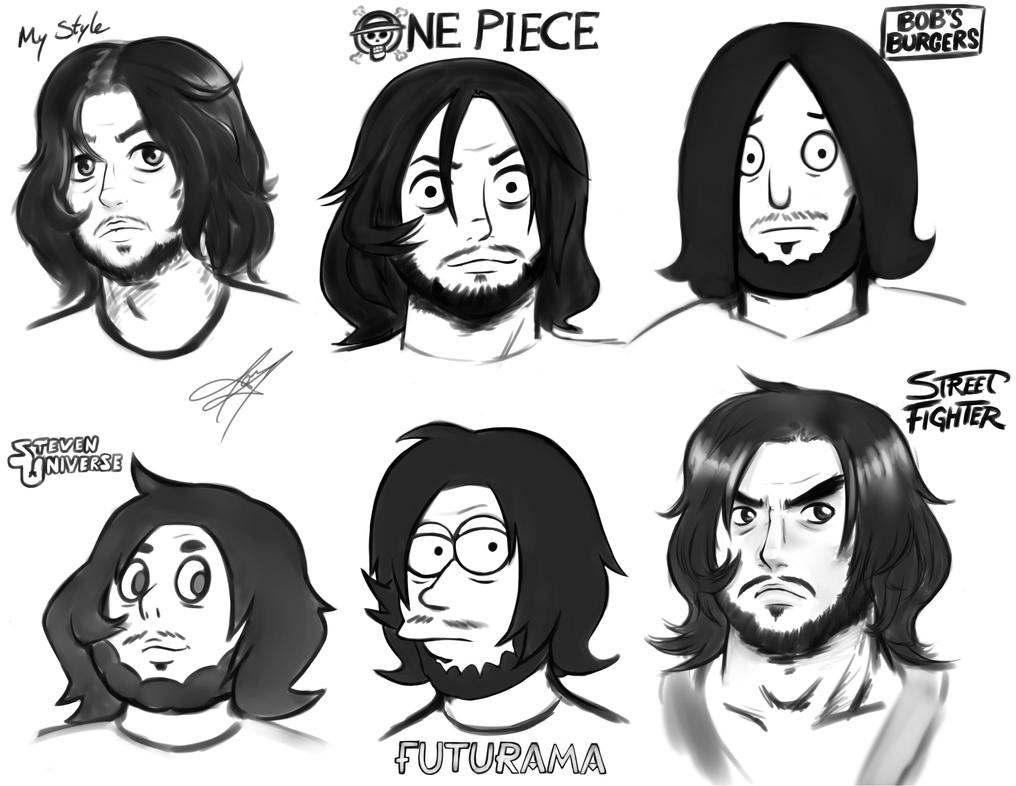 Self-Portrait Style Challenge by SlimeKingKtW