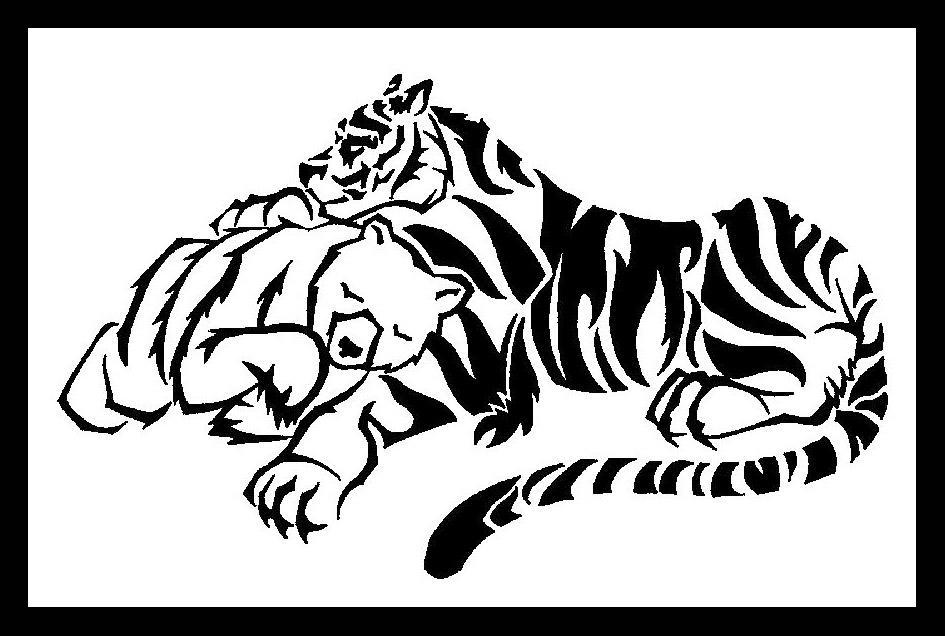 Bear and Tiger Tattoo Design by darkbear on deviantART