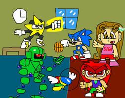 Sonic and Sega All-Stars Basketball by illcitvirus115
