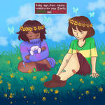 .:chara and frisk collab:.