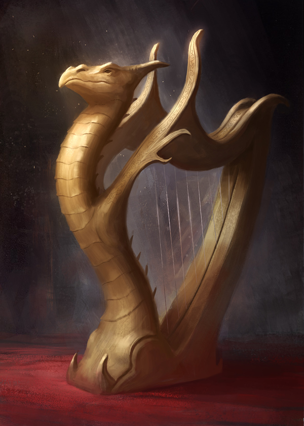 Dragon Harp by gerezon