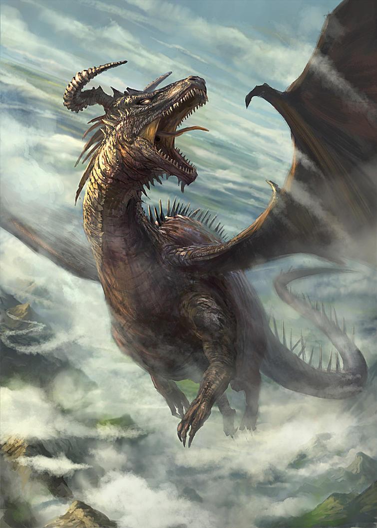 Flying Dragon: Dragon In Flight By Gerezon On DeviantArt