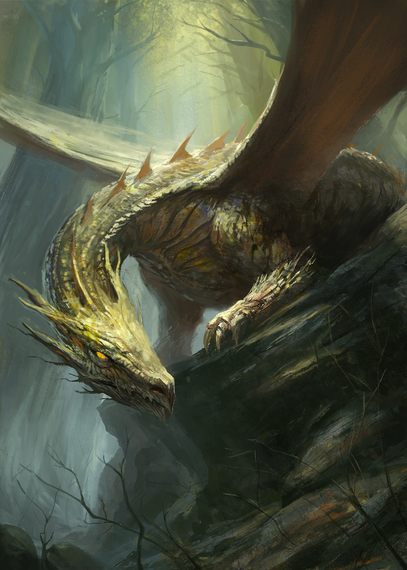 Forest Dragon By Gerezon
