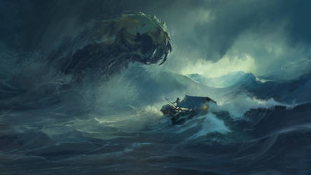 Treacherous Sea by gerezon