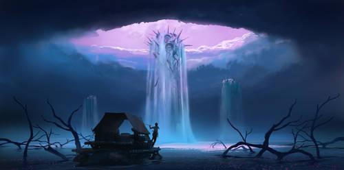 Twilight waters
